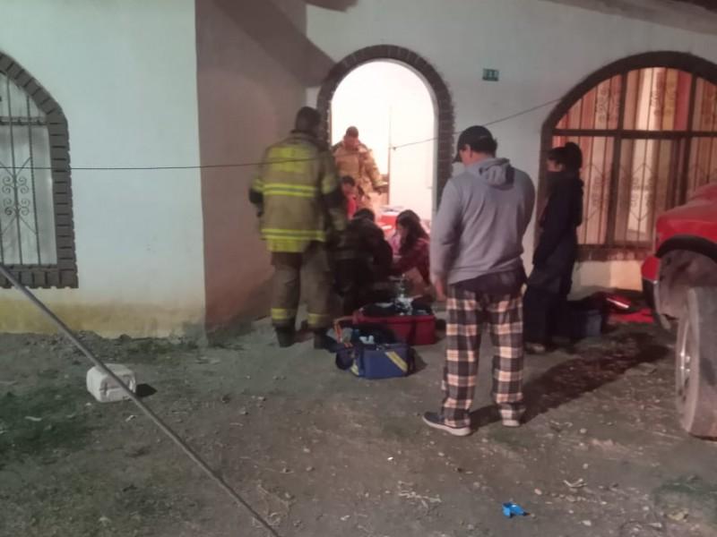 Familia se intoxica por fuga de gas en su domicilio