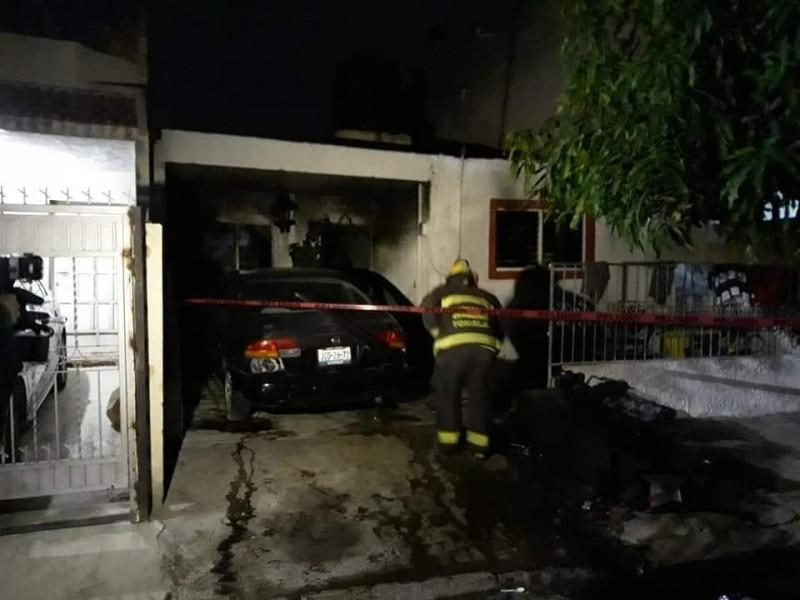 Familia sufre quemaduras en incendio