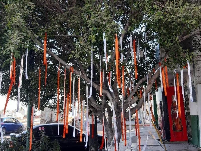 Familiares de desaparecidos crean árboles de la esperanza