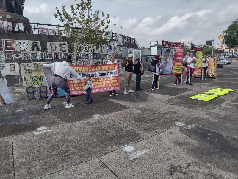 Familiares de desaparecidos exigen su búsqueda con manifestación