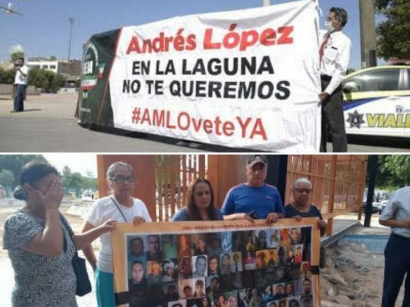 Familiares de desaparecidos y FRENAAA, la otra recepción a AMLO