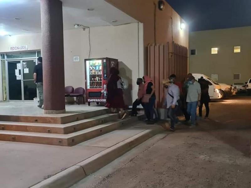 Familiares del líder Yaqui Tomás Rojo acudieron a la SEMEFO
