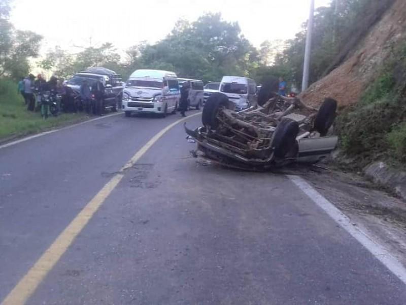Fatal accidente en Motozintla; 5 muertos y 10 heridos