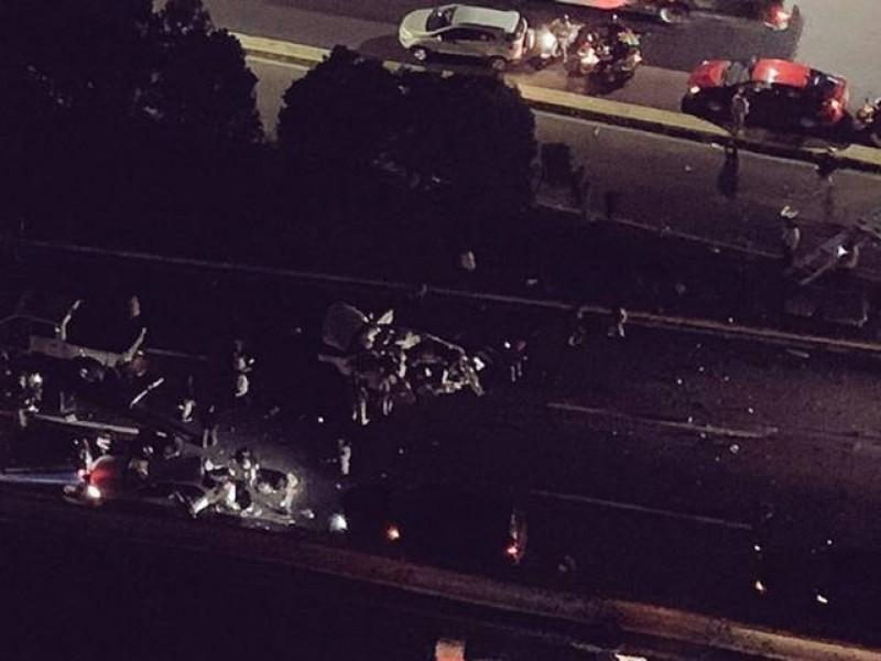 Fatal accidente sobre autopista México-Toluca