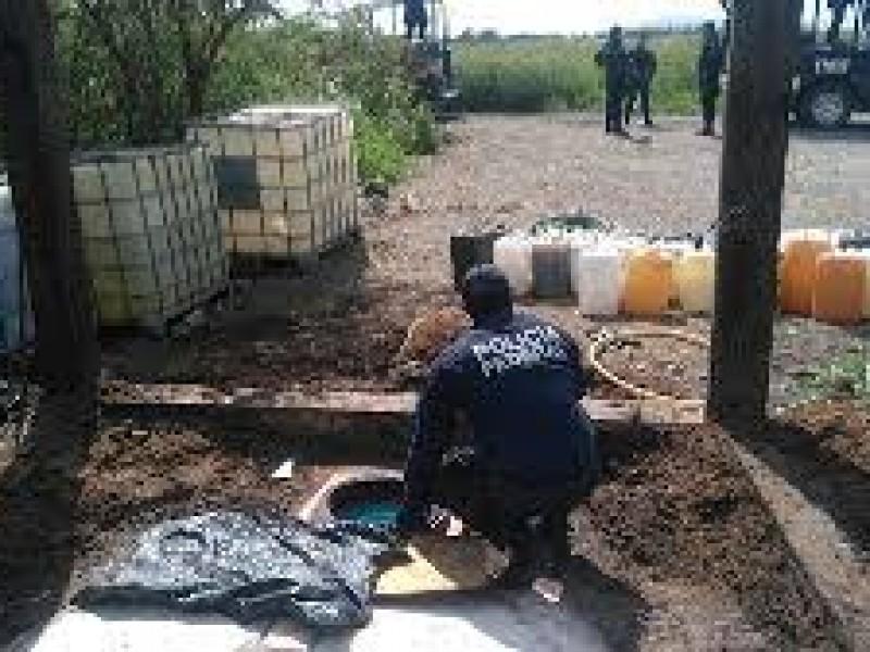 Federales localizan  toma clandestina de combustible