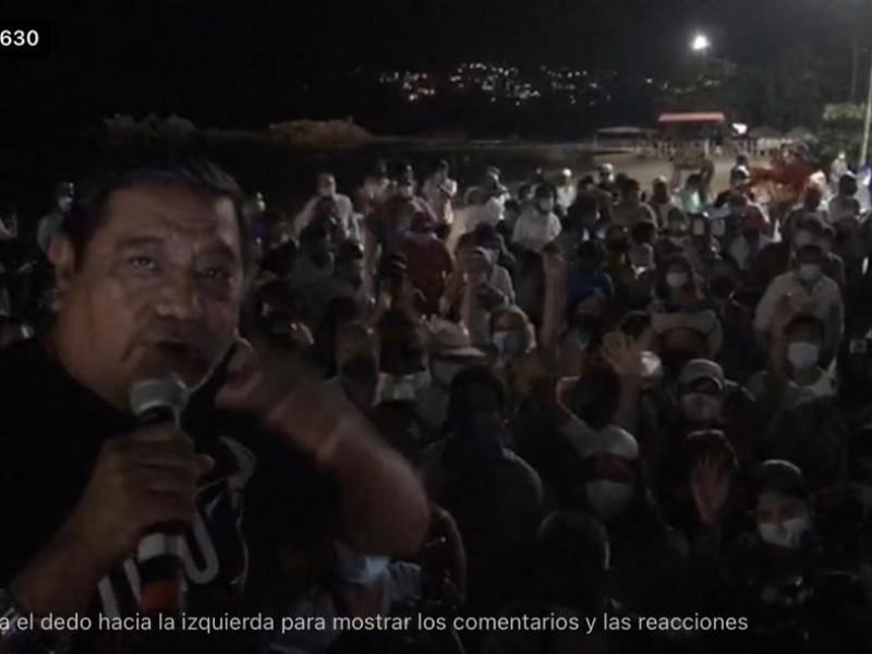 Félix Salgado hace mitin en Acapulco, asegura le devolverán candidatura