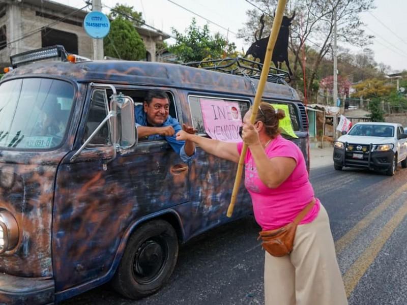 Félix Salgado inicia caravana a la Ciudad de México