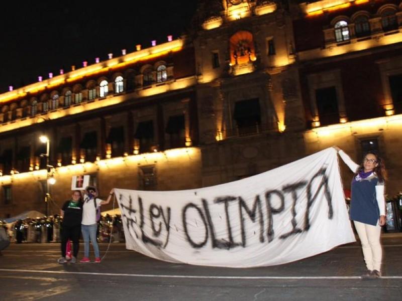 Feministas piden aprobación de Ley Olimpia en CDMX
