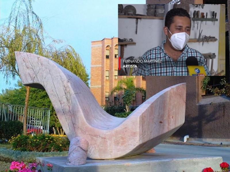 Fernando Martínez escultor orgullosamente lagunero