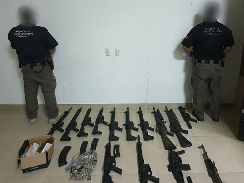 FGR asegura armamento en Chiapas