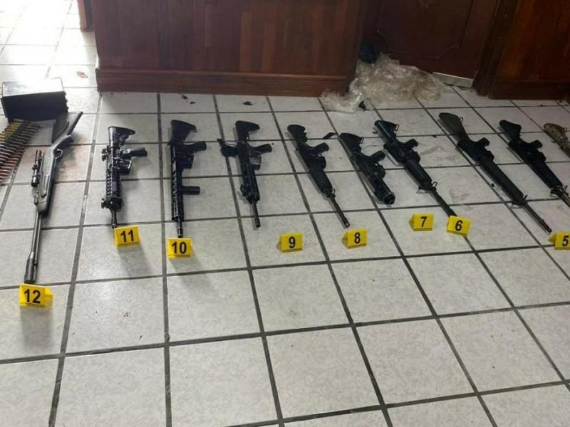 FGR asegura inmueble y arsenal durante un cateo