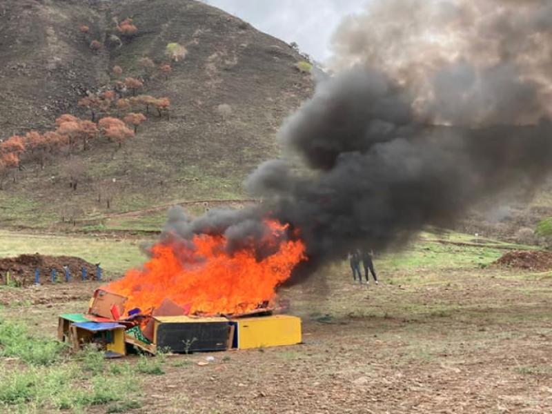FGR incinera más de 290 kg de narcóticos en Nayarit