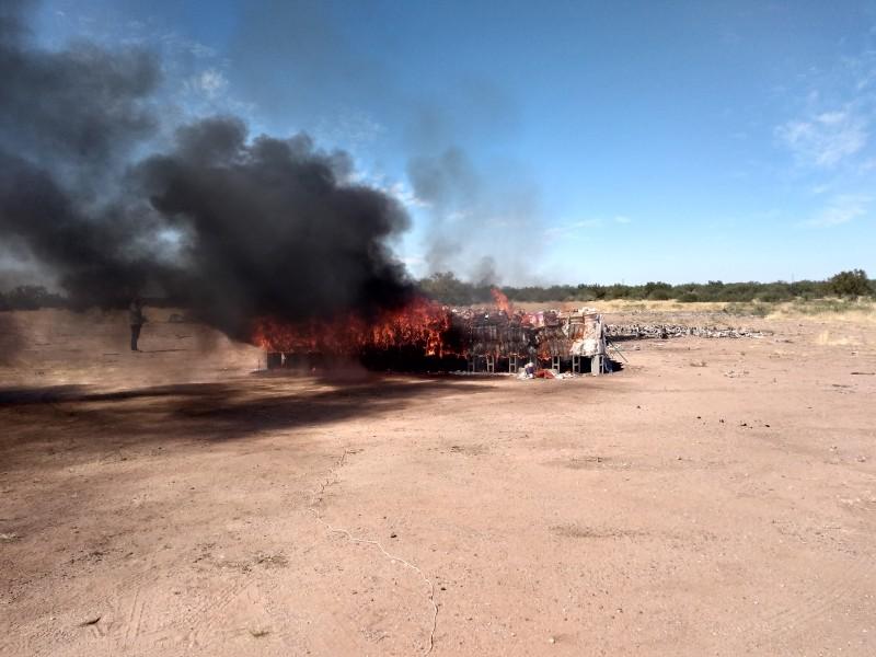 FGR incinera más de cuatro toneladas de narcóticos