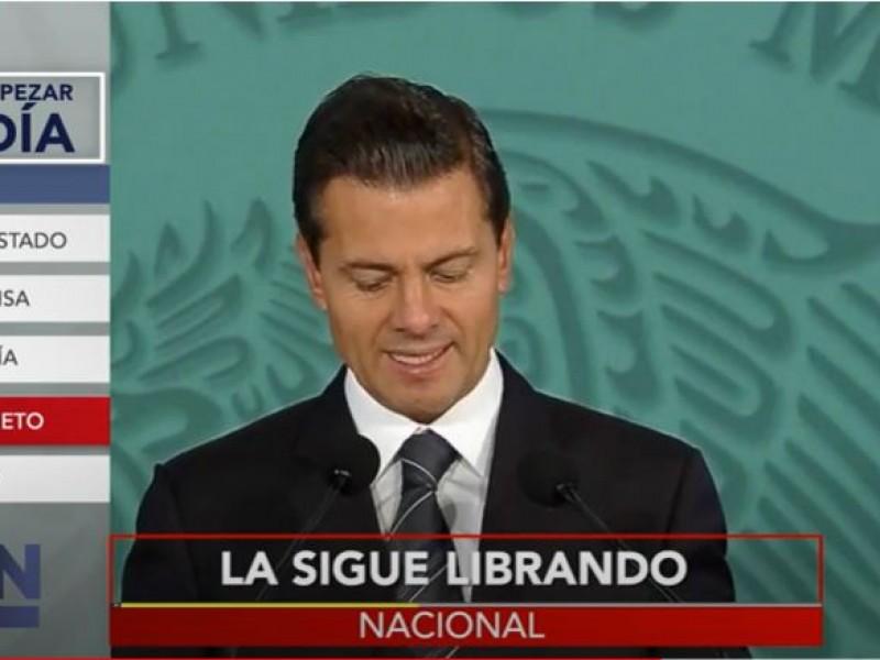 FGR rechaza llamar a comparecer al expresidente Peña Nieto