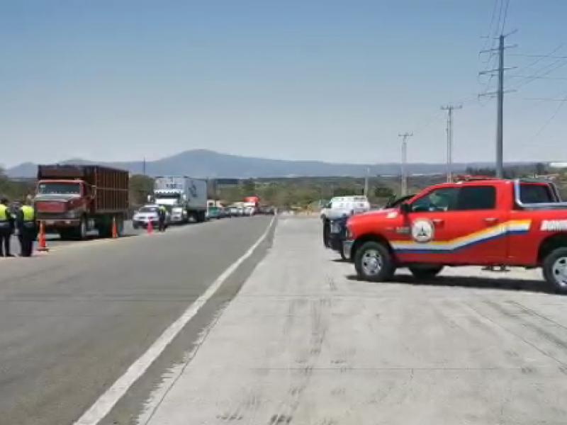 Filtro sanitario en frontera Michoacán y Jalisco