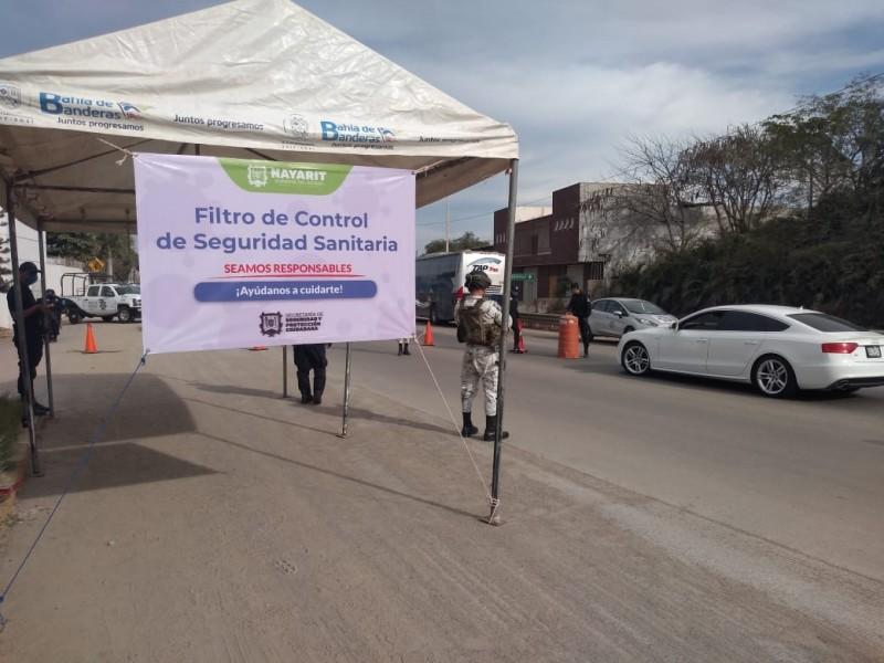 Filtros de seguridad sanitaria en operación en Bahía de Banderas