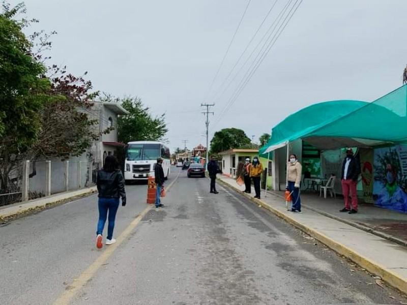 Filtros sanitarios siguen activos en Tamiahua