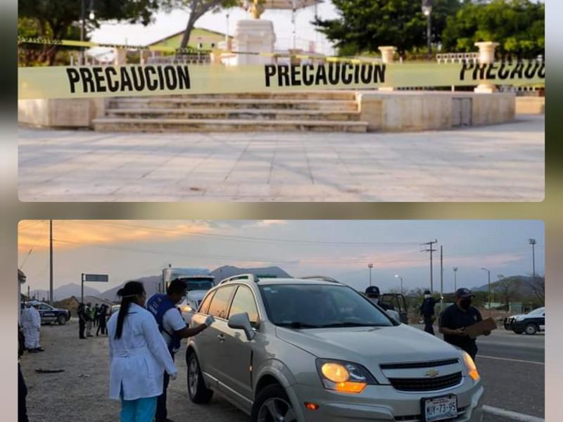 Filtros sanitarios y cierre de parques, nuevas medidas en Tehuantepec