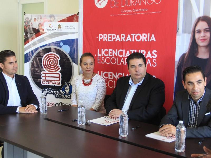 Firma COBAQ convenio con Universidad de Durango