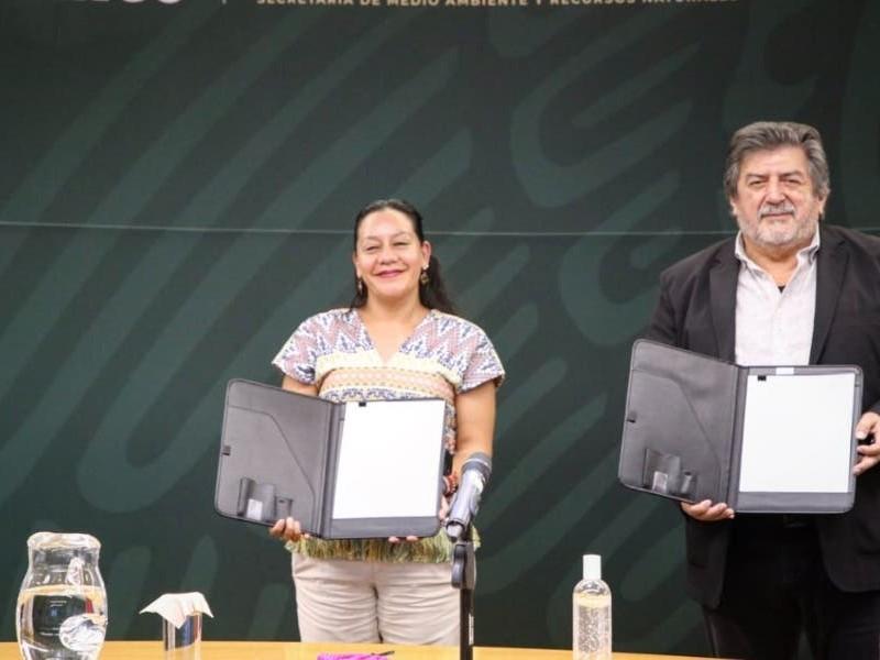 Firman convenio Semarnat y Fonatur sobre Tren Maya