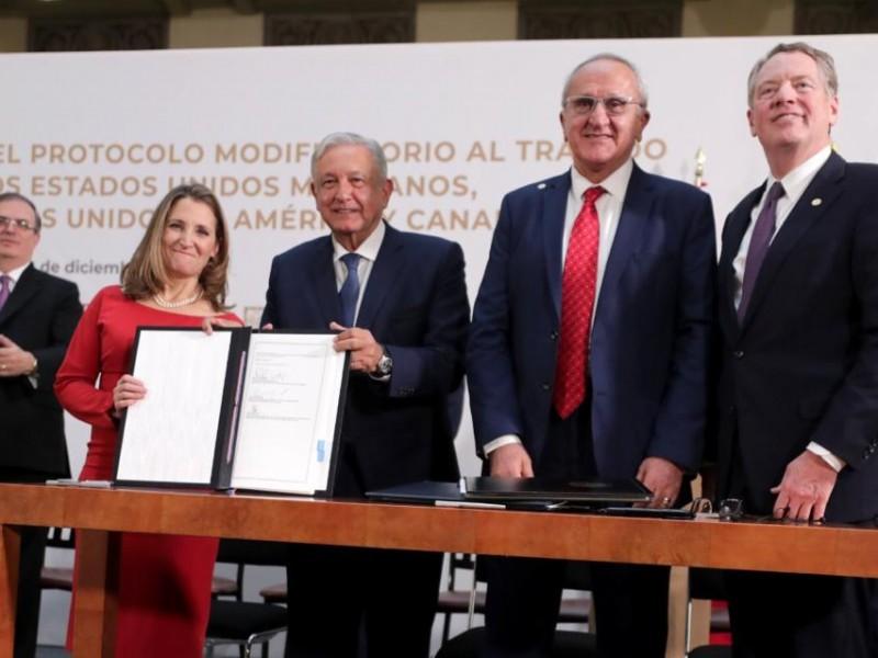 Firman nuevo T-MEC en Palacio Nacional