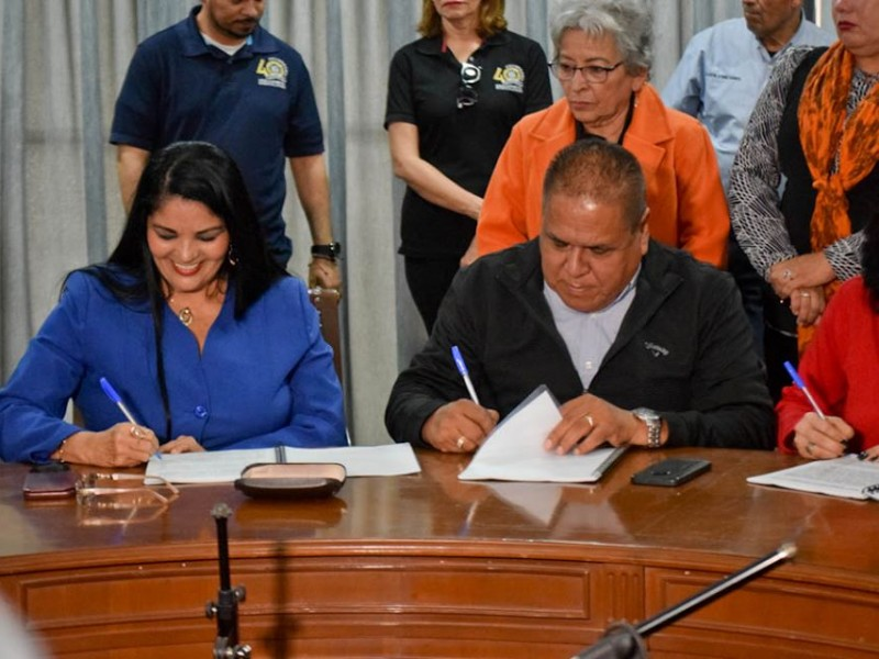 Firman Plan de Previsión Social Sindicalizados del Ayuntamiento de Navojoa
