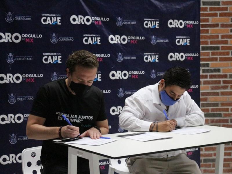 Firman Sejuve e Imjuve convenios de colaboración interinstitucional