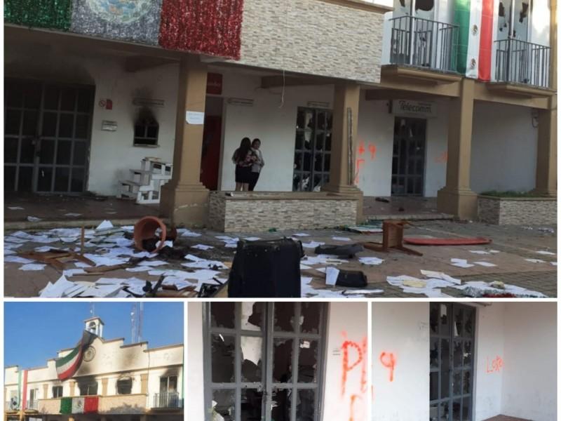 Fiscalía investiga actos vandálicos en Altamirano