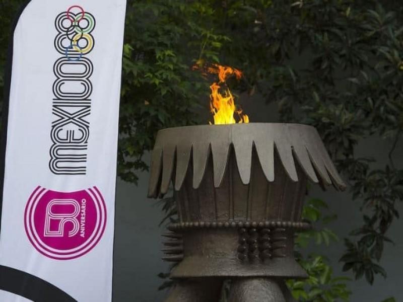 Flama Olímpica de México 68 vuelve a brillar