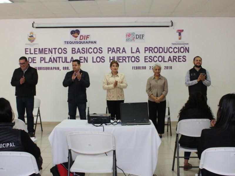 Fomentan huertos escolares en Tequisquiapan