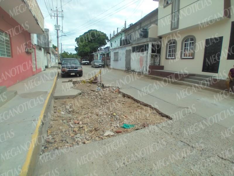 Fragilidad en calles de la colonia Guadalupe, vecinos demandan atención