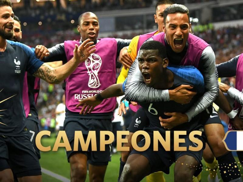 Francia conquista segundo título Mundial