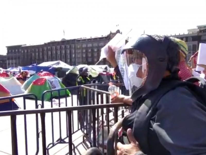 FRENAA y Marcha del Millón se encuentran en Zócalo