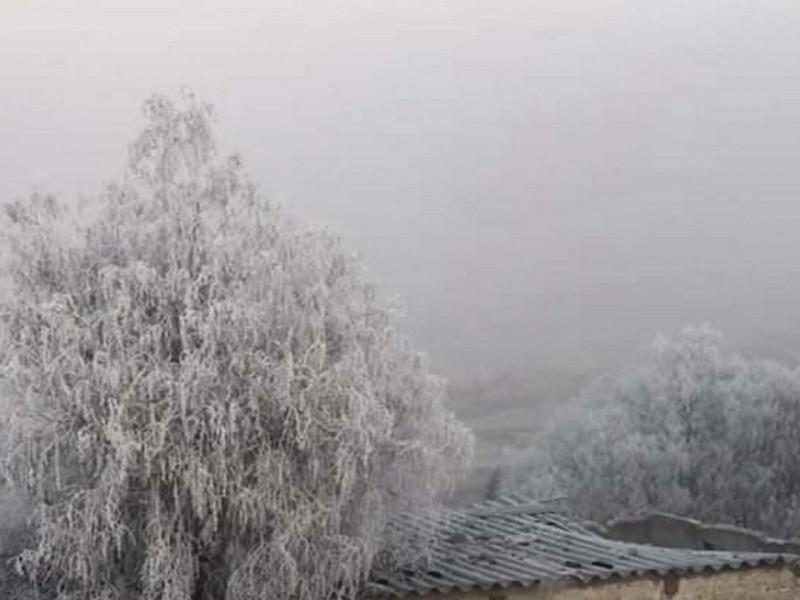 Frente Frío 25 provoca heladas y lluvias
