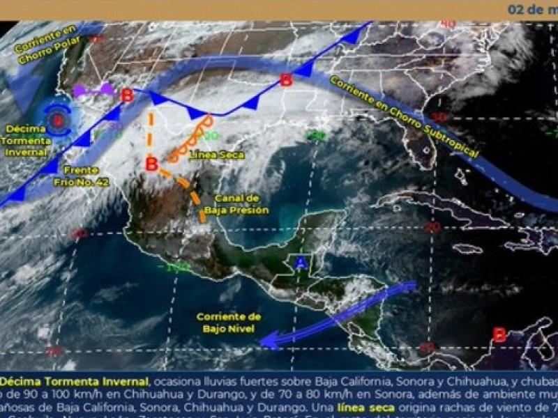 Frente frío 42 traerá disminución de temperaturas en Chiapas
