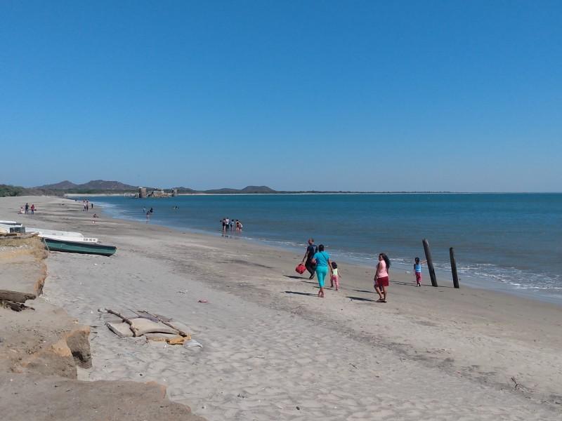 Frente frío y pandemia mantienen al 30% playas de SalinaCruz