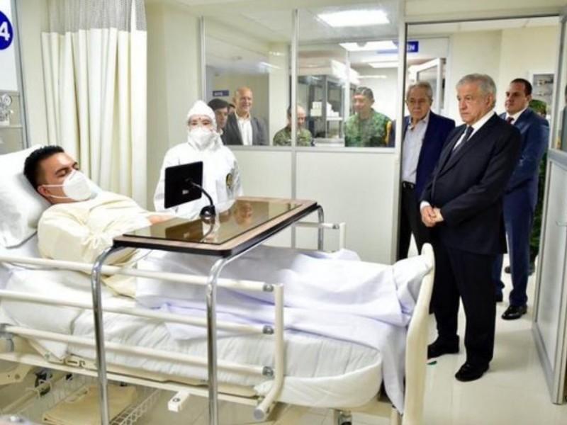 Fue un simulacro la visita de AMLO a Hospital Covid:ISSSTE