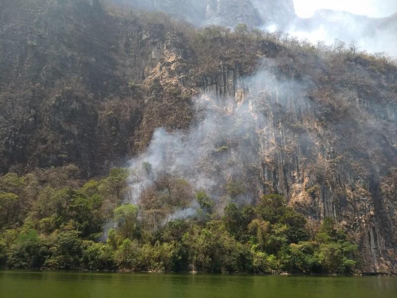 Fuego consume Parque Nacional Cañón del Sumidero