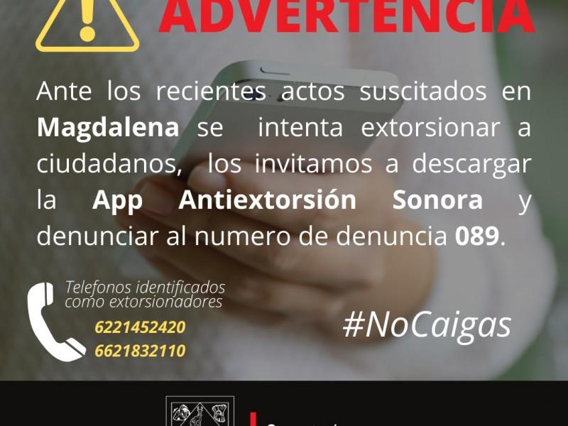 Fueron víctimas de extorsión telefónica, tras violencia en Magdalena