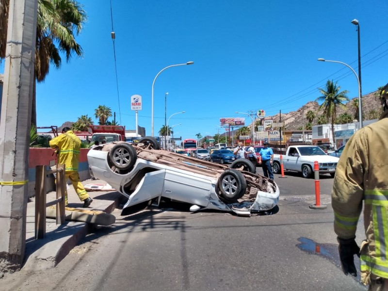 Fuerte accidente en Calzada