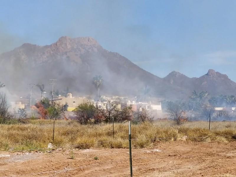 Fuerte incendio forestal en el Dorado