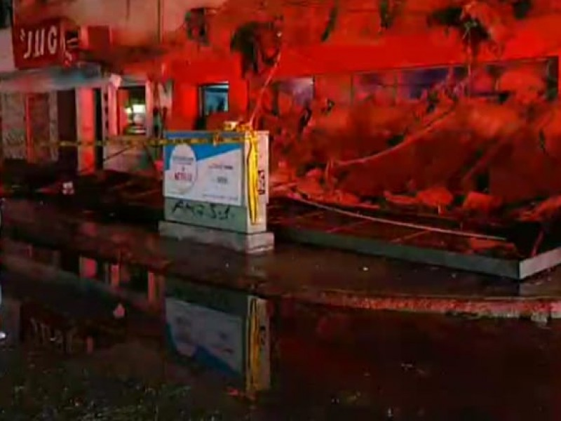 Fuerte lluvia en Ciudad Obregón deja afectaciones, hay un lesionado