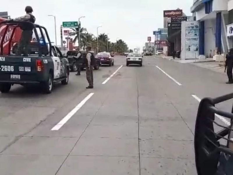 Fuerte movilización de seguridad en Boca del Río