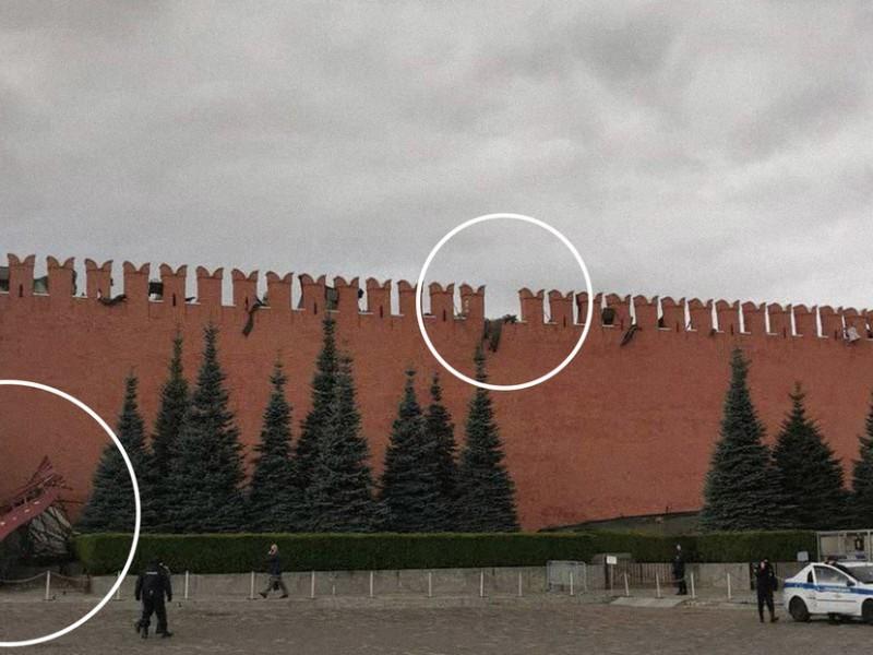 Fuertes vientos dañan parte de la muralla del Kremlin