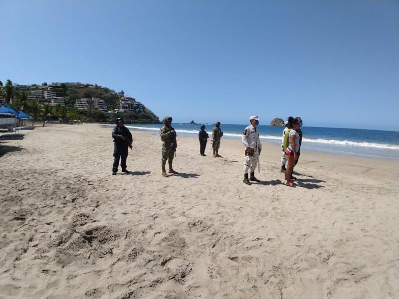 Fuerzas de seguridad vigilan que no se usen las playas