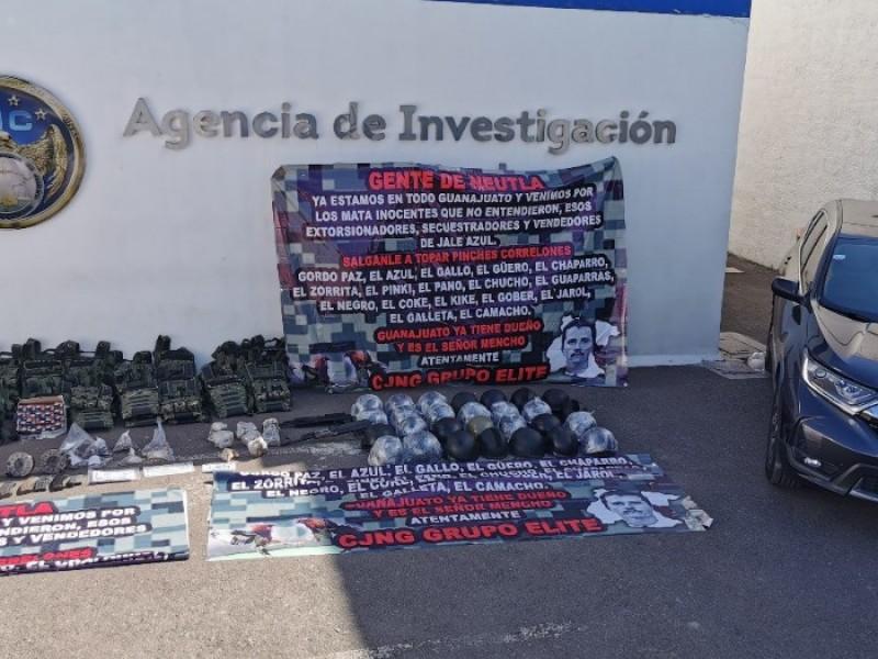 Fuerzas Federales aseguraran arsenal a grupo criminal en Irapuato