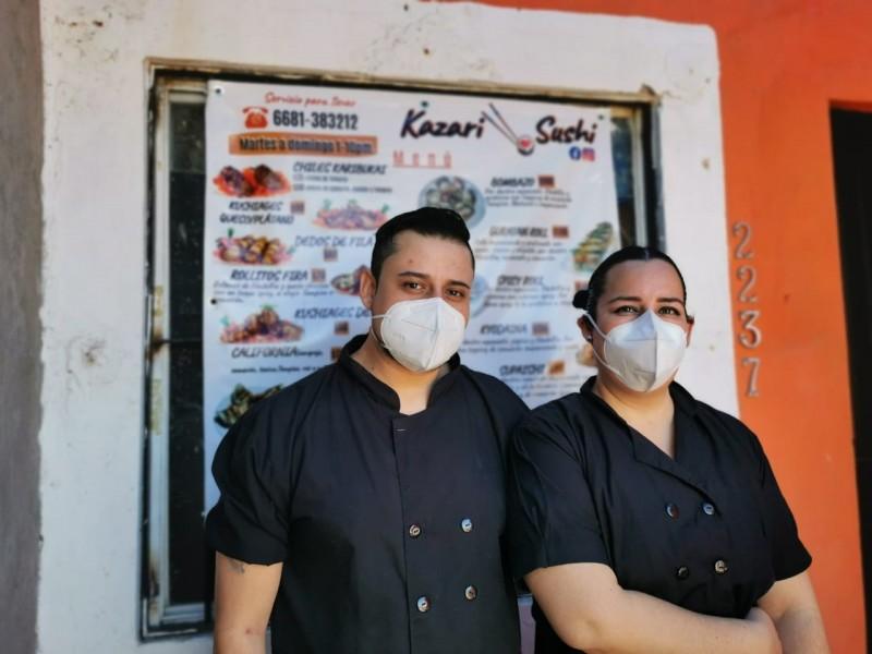 Fundadores de Kazary Sushi, emprendedores en pandemia