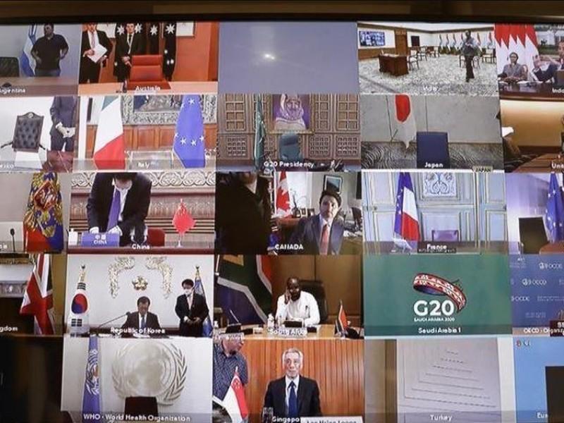 G-20 acuerda trabajar en conjunto contra Covid-19