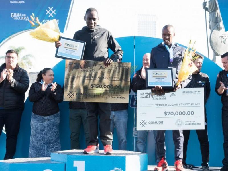 Ganadores del medio maratón 21k Guadalajara