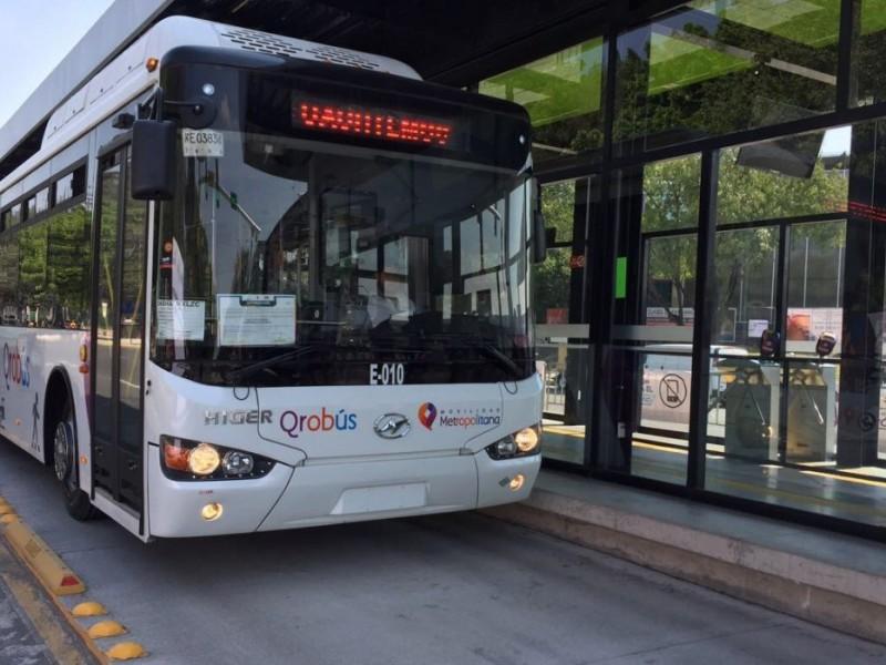 Garantizan servicio de Qrobus ante suspensión de venta de gas